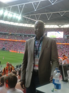 Segun at Wembley
